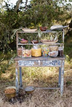 Rustic sweety buffet