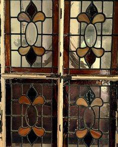 Early 1900 stained glass door with six panels french victorian  showing only four of .losangelesshahin@gmail.com #stainedglasswindows#frenchvictorian#arcdigest#architecturaldigest#dezeen#design#antiquedoors#interiordesign#interiordesigner#notrdam#frenchrevival#frenchquarter#parisartgalleries by shahins_vintage_goods
