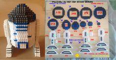 Plantilla de Hama Beads R2 - D2 STAR WARS Plantilla 2