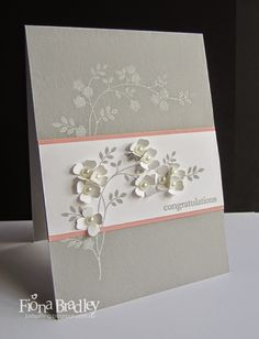 Wedding congratulations - Thoughts and Prayers - Stampin Up - Just Spiffing by Fiona Bradley