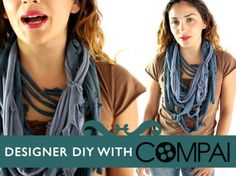 etté studios: DIY: Recycled Tshirt Scarf Necklace Roundup
