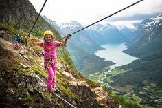 Via Ferrata in Loen Copyright © Sverre Hjørnevik/Fjord Norge