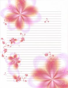 Floral writing paper
