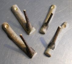 Set of 4 Birch Branch Rustic Hooks by vermontbranchcompany on Etsy, $12.80