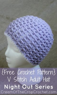 This is the second pattern in the Night Out Series! If you liked the V Stitch Shawl/Wrap pattern, you will love this V Stitch Adult Hat pattern. This intermediate hat can be made with worsted weight yarn, and a J crochet hook. I would love to see your unique touch to this pattern! Share it on our Facebook page, or by emailing us a picture. Keep an eye out for