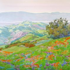 Poppies Above the Bay by Robin Purcell at the 2017 Under a Vast Sky exhibition Tucson Desert Art Museum #AWATucson