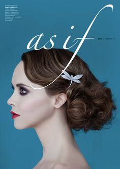 Christina Ricci graces the cover of As If magazine's third issue, 2013.