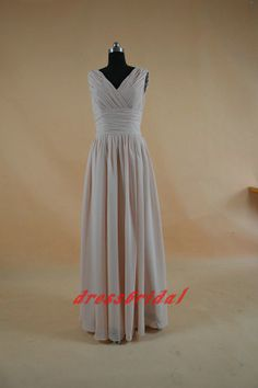 Custom made 2013 new style grey v neck pleated by dressbridal, $69.99