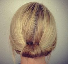 simple updo for shor