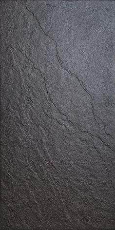 Magma Black Stone Effect Plain Porcelain Wall & Floor Tile, Pack of 6, (L)600mm (W)300mm £11 per M2