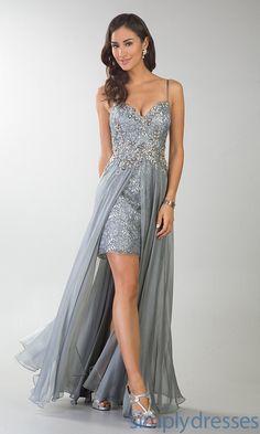 Dress, High Low Lace Spaghetti Strap Dress - Simply Dresses