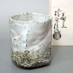 Hagi ware - yohen yunomi by Mukuhara Kashun