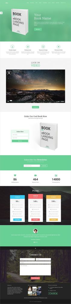 Joli is a multipurpose responsive #HTML bootstrap template for professional #book #landingpage template with 4 unique homepage layouts download now➩  https://themeforest.net/item/joli-responsive-multipurpose-landing-page-template/19480007?ref=Datasata