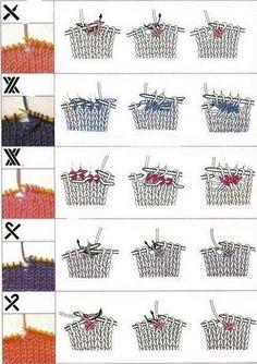 3 -motivi tricot - tecnica simboli
