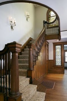 Stair case and woodwork