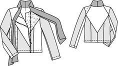 Patched Panel Biker Jacket 02/2015 #117 – Sewing Patterns | BurdaStyle.com