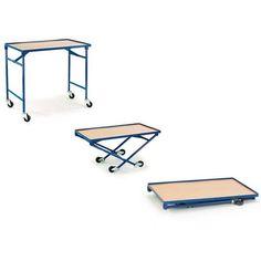 GTARDO.DE:  Faltbarer Tischwagen, Tragkraft 150 kg, Ladefläche 1000x600 mm, Maße 1000x610 mm, Rad-Ø 75 mm 181,00 €