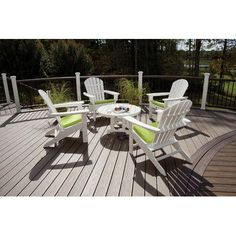 Trex Trex Outdoor Cape Cod 5 Piece Adirondack Seating Group