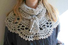 Cowls, Crochet Scarves, Crochet Designs, Scarfs, Crochet Projects, Scarf Wrap, Something To Do, Shawl, Wraps