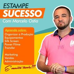 DESCUBRA como transformar sua MÁQUINA : DESCUBRA como transformar sua MÁQUINA de estampar  em uma máquina de ESTAMPAR DINHEIRO! http://www.marceloostia.com.br/leadpage | camisetasdahora
