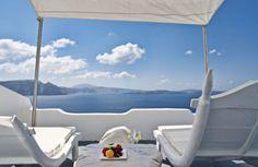 andronis luxury suites janela aberta para o mar egeu na ilha grega de santorini