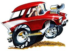 Hot Rod Cartoon Art Gallery | Chevy Cartoon http://www.ebay.com/itm/1957-CHEVY-BEL-AIR-NOMAD-HOT-ROD ...