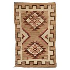 Navajo (Crystal), rug, dyed wool, x on Dec 2017 Carpet Sale, Rugs On Carpet, Chief Seattle, Textile Design, Navajo, Native American, Weaving, Auction, Textiles