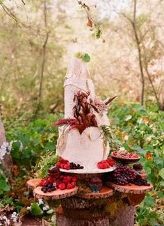 woodland fairy food display