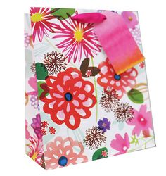Bold Flowers Medium Gift Bag - GiftBagShop.co.uk