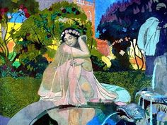 maurice-denis Bathsheba Bathing in the Gardens of Grenade Henri Matisse, Monet To Matisse, Maurice Denis, Edouard Vuillard, Paul Cézanne, Paul Gauguin, Vision Art, Avant Garde Artists, Pierre Bonnard