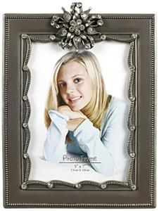 Silver Photo Frame With Jewel