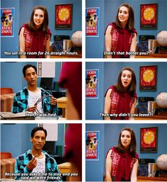 Abed Nadir and Annie Edison, Community, 1x04