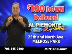 Al Piemonte, the face and owner of the Chicagoland auto dealership Al Piemonte Ford, has died.  Piemonte's exaggerated hand gestures and colorful sweaters made him a staple on Chicago televisions for more than 30 years.  A sales manager at his Ford dealership in Melrose Park confirms Piemonte passed away on Christmas Eve. There's no word on a cause of death. He was 83.