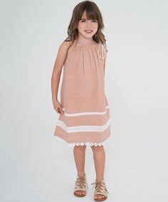 Blush Pink & White Lace-Accent Pillowcase Dress - Toddler & Girls