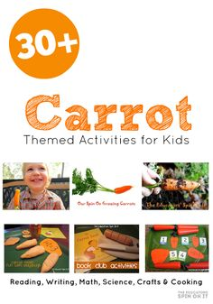 30+ Carrot Seed Activities for kids and they enjoy the popular children's books and learn about carrots.