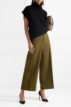 Stitch Fix Stylist: Slike søte bukser med brede ben. Komplette Outfits, Casual Outfits, Fashion Outfits, Womens Fashion, Fashion Trends, Cute Office Outfits, Fashion Hacks, Jeans Fashion, Grunge Outfits
