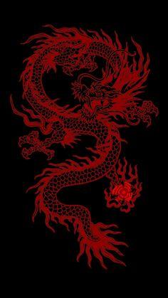Red Dragon Красный дракон Кладбищенские статуи Винтажные плакаты