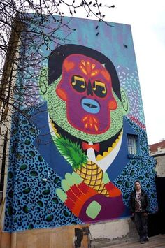 Mr Pilgrim presents unique murals, urban art wall murals & unusual street art from all over the world // See more street artists + graffiti artists online 3d Street Art, Best Street Art, Murals Street Art, Amazing Street Art, Street Art Graffiti, Street Artists, Graffiti Artwork, Art Mural, Graffiti Artists
