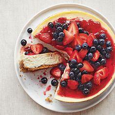 #GlutenFree Strawberry-Blueberry Cheesecake | MyRecipes.com