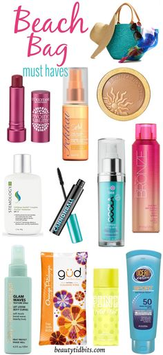 Beach Bag Beauty Essentials | Thank you Beauty Tidbits for including our SunVeil Complete OneTint Moisturizer in your 10 Beach Bag Essentials! Click through for all her recommendations.