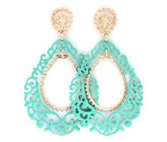 Sedona Earrings in Mint Turquoise on Emma Stine Limited