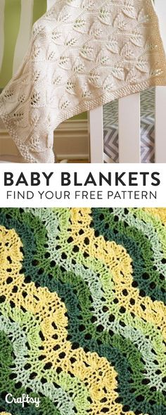 Knit the perfect handmade gift for a little one on the way with one of our favorite baby blanket knitting patterns. Did we mention they're 100% FREE?!