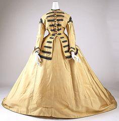 Dress 1865, American, Made of silk