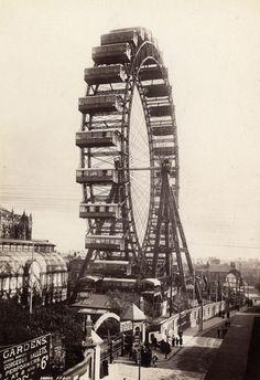 Francis Frith (U412)  Big Wheel, Blackpool, Angleterre, vers 1896