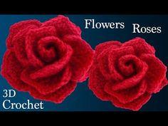 Como hacer rosas rojas muy fácil con una tira a crochet para San Valentín teji. Crochet Flower Tutorial, Crochet Flower Patterns, Crochet Flowers, Love Crochet, Crochet Gifts, Simple Crochet, Crochet Brooch, Wie Macht Man, Motif Floral