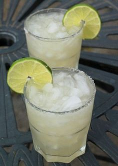 Fresh Lime Margarita | 1½ cups gold tequila ¾ cup Triple Sec ¾ cup fresh lime juice 4 tbsps sugar, divided 8 cups crushed ice 2 tbsps kosher salt | Stir together tequila, Triple Sec, lime juice, 2 tbsps sugar in large pitcher. Stir until sugar is dissolved. Mix salt and remaining 2 tbsps sugar on a small saucer. Rub a lime wedge around rim of glasses, lightly dip glasses into saucer with sugar-salt mixture. Fill glasses with crushed ice. Pour margarita into glasses. Garnish with l