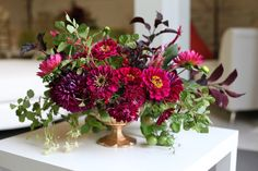long low jewel tone centerpiece - Google Search