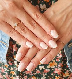 Nude Nails, Pink Nails, Cream Nails, Classic Nails, French Nails, Manicures, Nails Inspiration, Red And Pink, Nail Ideas