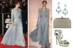 Kate's look for the Spectre Premiere 10.26.15 Jenny Packham clutch and gown and Jimmy Choo sandals.