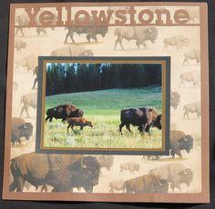 Yellowstone scrapbook paper – DIY in 2020 Photo Album Scrapbooking, Scrapbook Page Layouts, Scrapbook Albums, Scrapbook Cards, Digital Scrapbooking, Wyoming Camping, Best Travel Journals, City Layout, Vacation Scrapbook